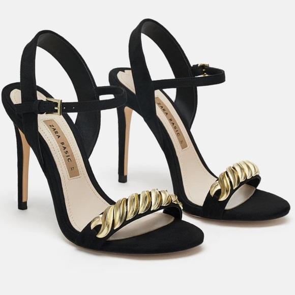 470716191ae Zara High heel sandal with chain detail 6330 301